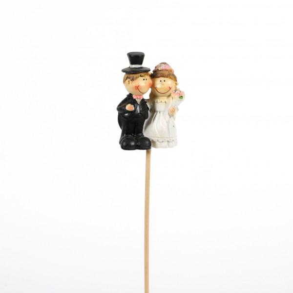 Stecker Hochzeitspaar Poly 2 Mod. ca.3x28 cm