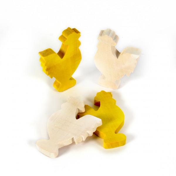 Holz-Hahn 8x5cm VE=10 Stück im Tray