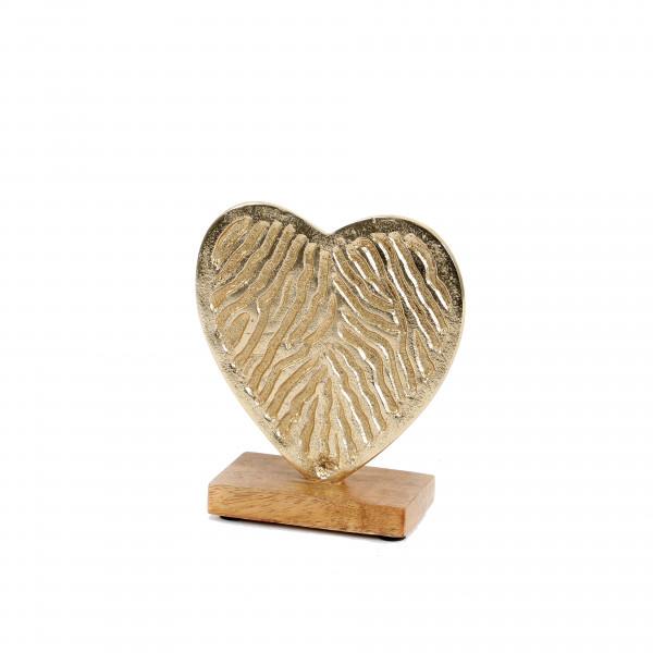 Herz, Metall, gold, stehend 17.5x15x6.5cm