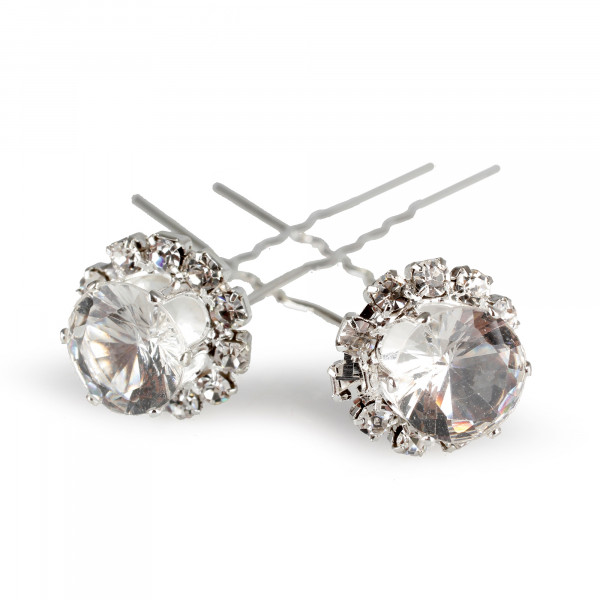 Wedding Haarnadel Diamant B1,5 cm H 7cm klar Box 20St