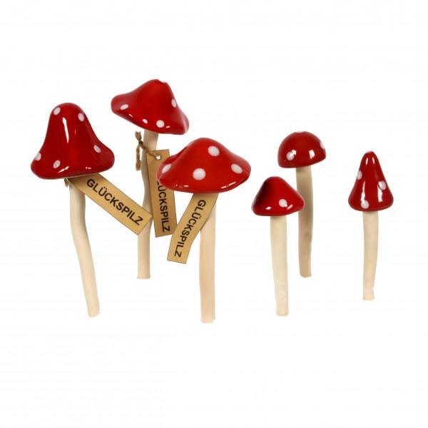 Keramik Glückspilz 3 Modelle sortiert
