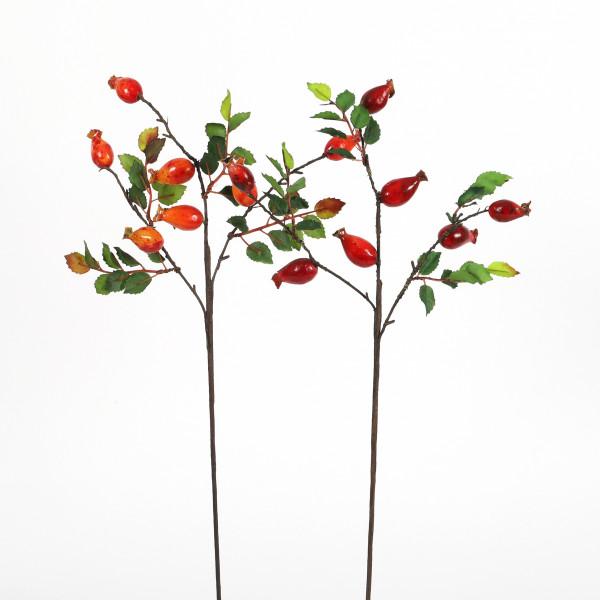 Hagebutten-Pick x 3, 56 cm rot-orange sortiert