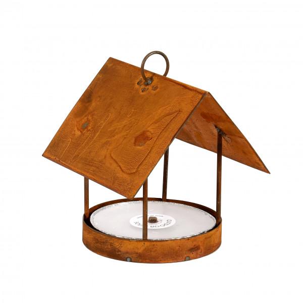 Vogelhaus zum hängen B 22 cm H 30 cm Edelrost