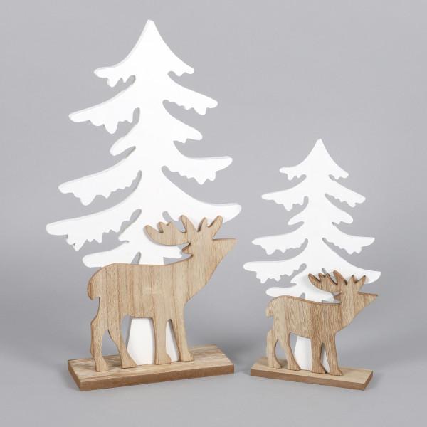 Standdeko Waldszene Holz