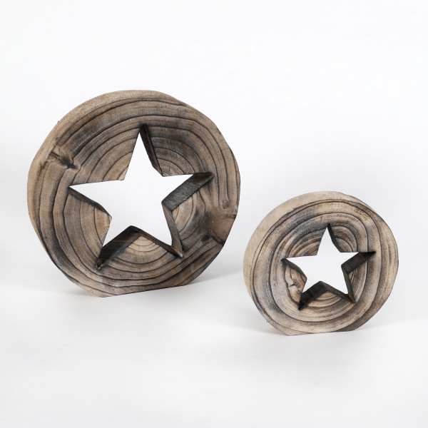 Holz Deko-Stern Gimini stehend