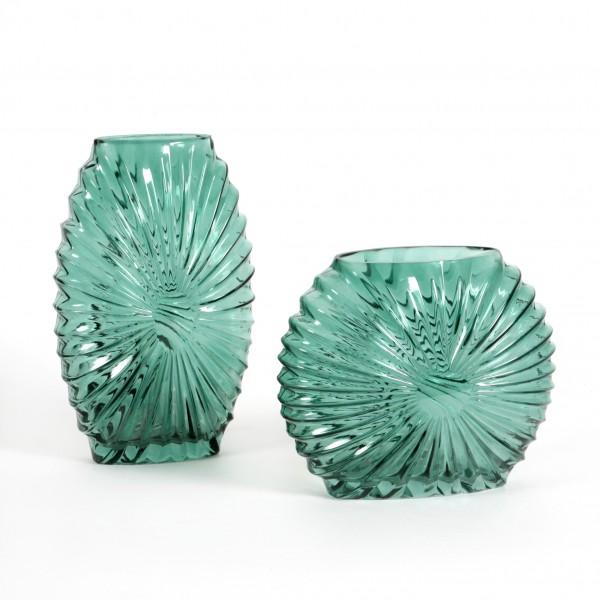 Glasvase Shine H 28 cm D 11 cm smaragd