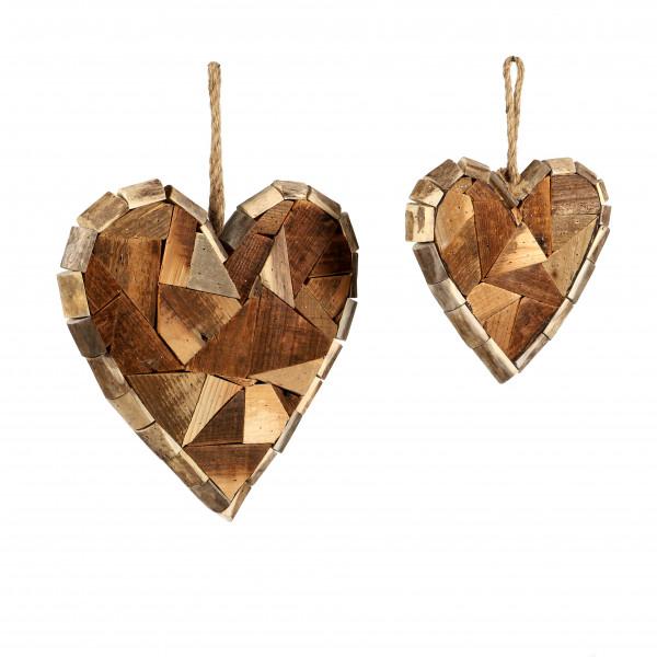 Deko Herz mit Jutehänger aus Holz