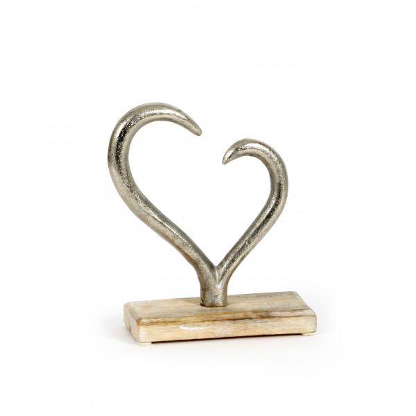Herz Tonder Holz-Alu,24x18 cm