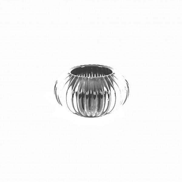 Teelichtglas Trendy 11x11x6,5 cm weiß