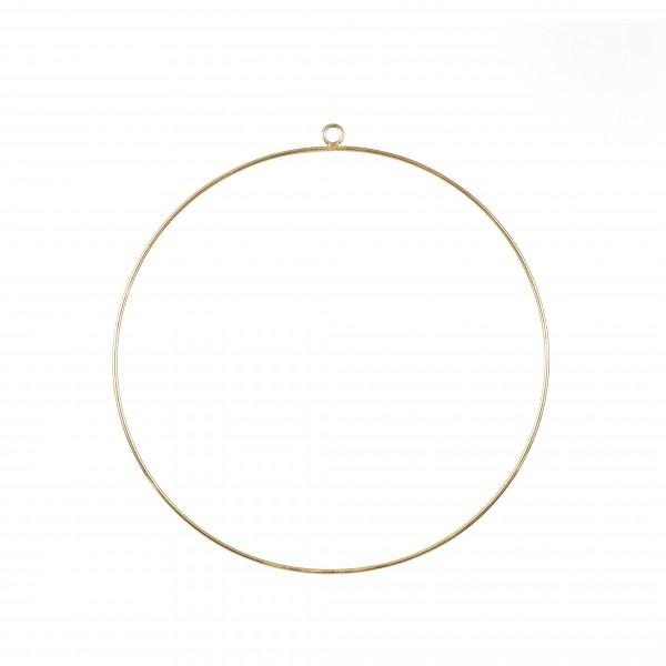 Dekoring zum hängen, Metall, gold, 40 cm