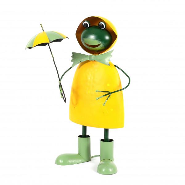 Frosch Sylt Metall, gelb-grün, . 33,5x20,5x54 cm