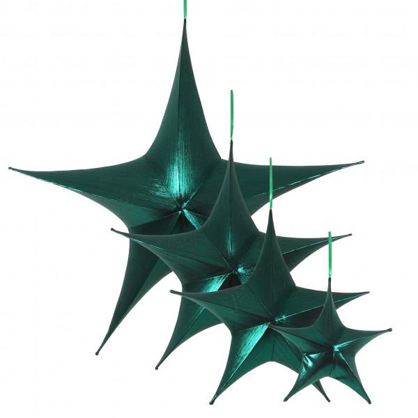 Stern Luisant Stoff, grün