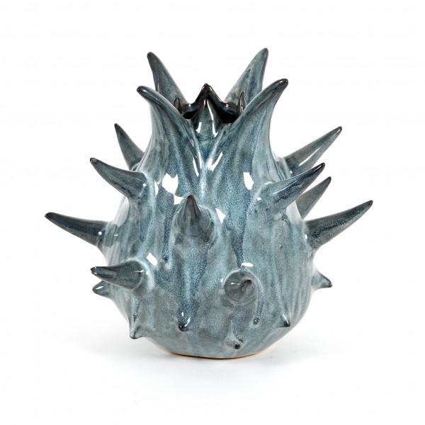 Keramik Vase Nassau blau Reaktions- glasur, 23xh.21cm