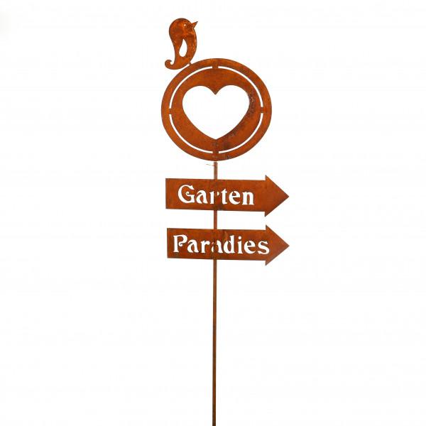 Stecker Gartenparadies B 41 cm H 160 cm rost