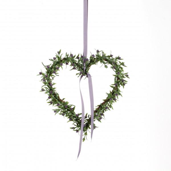 Lavendel-Herz, 20 cm, am Band