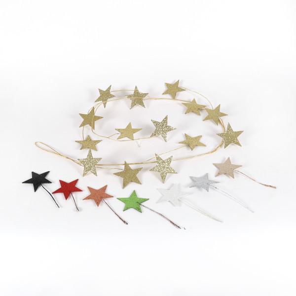 Girlande Stern beglimmert 150 cm