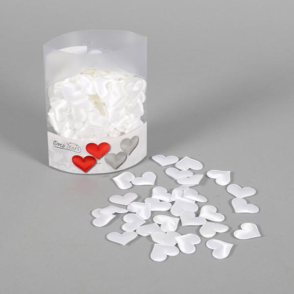 Herz aus Stoff zum Streuen weiß 2x3 cm 200 Stk. a Box