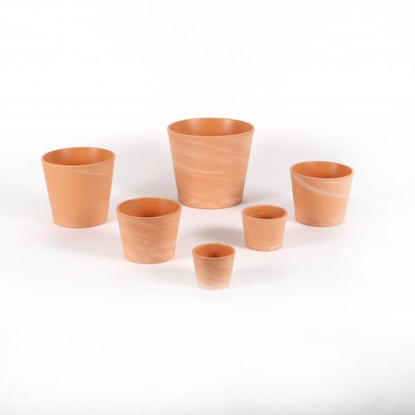 Keramik-Topf Terracotta white-washed