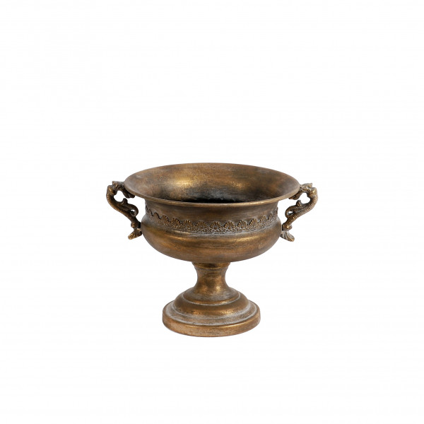 Metall Pokal 30x25x21 cm antik gold