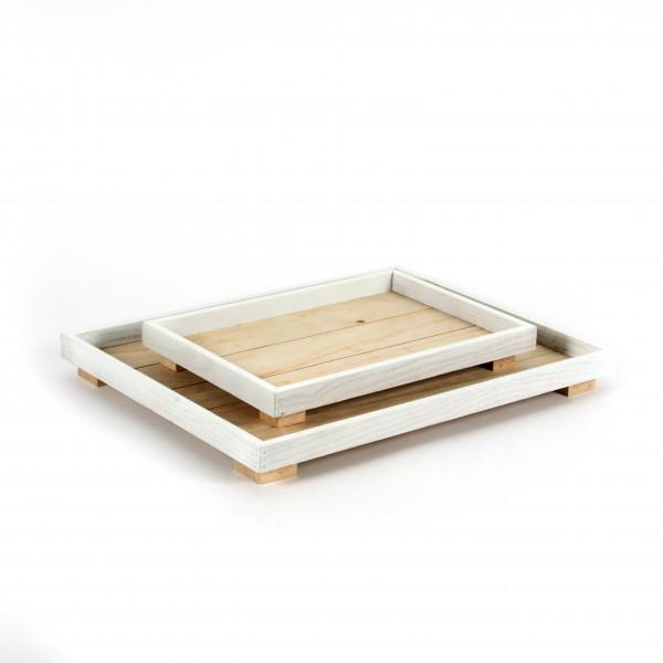 Holz-Tablett rechteckig