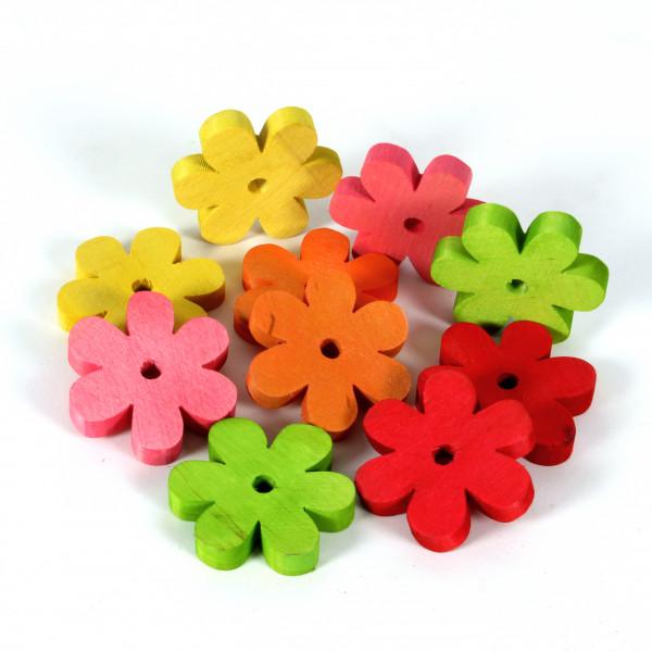 Holz-Blüte 6 cm, VE=10 Stück im Tray