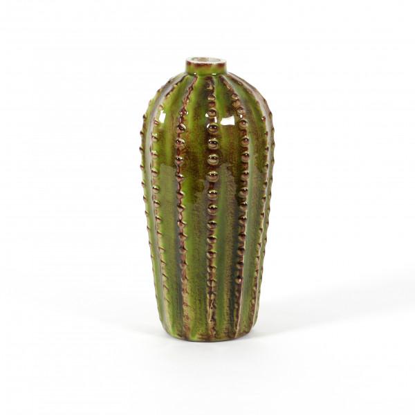 Vase Kaktus Glas, grün 12x21 cm