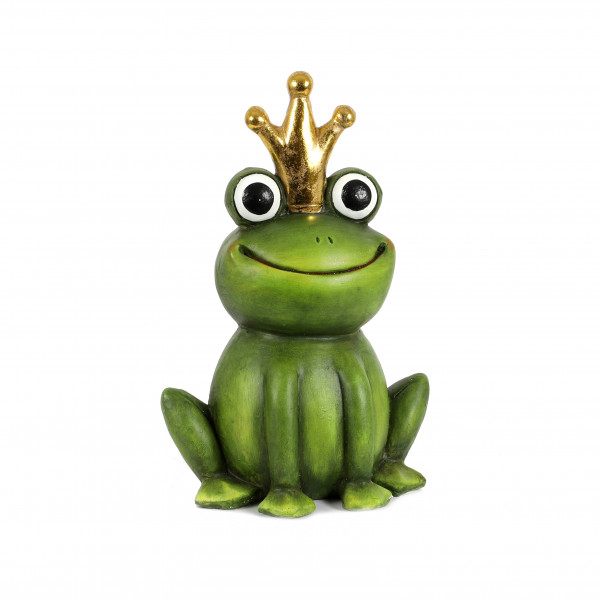 Magnesia Frosch-König funny smile grün, Krone in gold, 29x21x43 cm