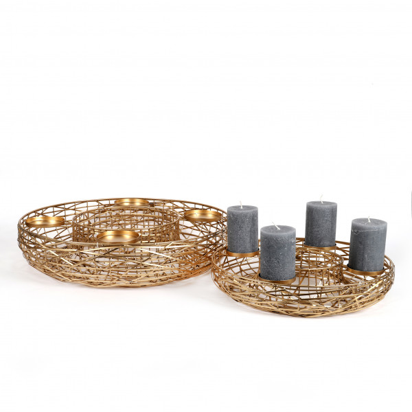 Kranz mit Kerzentüllen Helike Metall