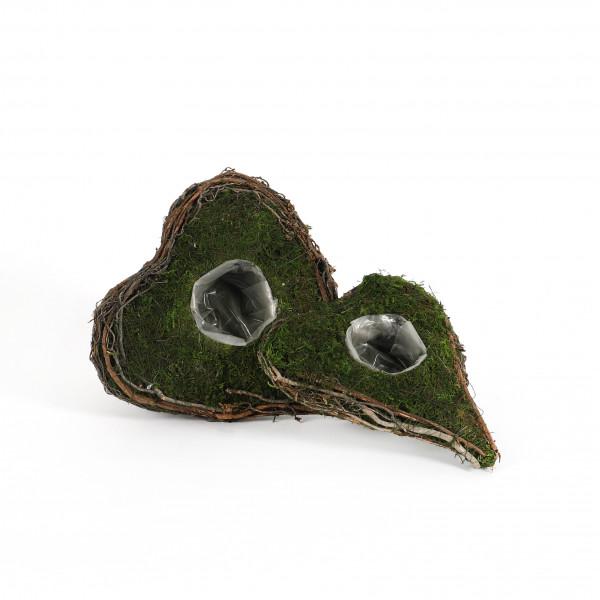 Pflanz-Herz, Moss, breite Form mit kleinem Pflanzbereich