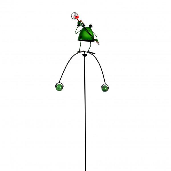 Gartenstecker Frosch Sylt Metall, 29,5x8,5x123,5 cm