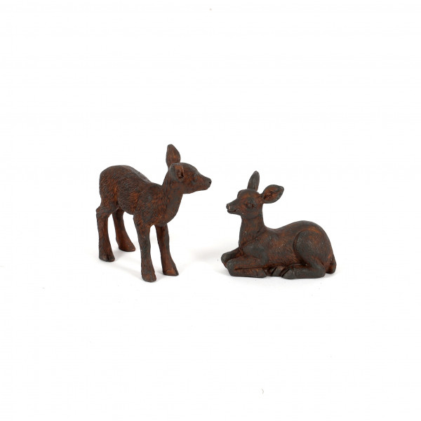 Poly-Bambi,stehend/liegend sortiert 5,3x2,5x4,5cm, dk.braun