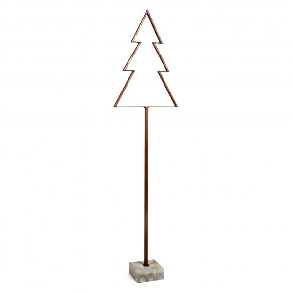 Metall Baum Tanne Betonfuß 160 cm Rost