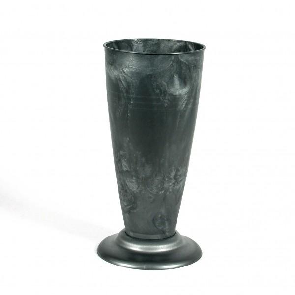 Floristen Gebrauchsvase V Form H30cm zink