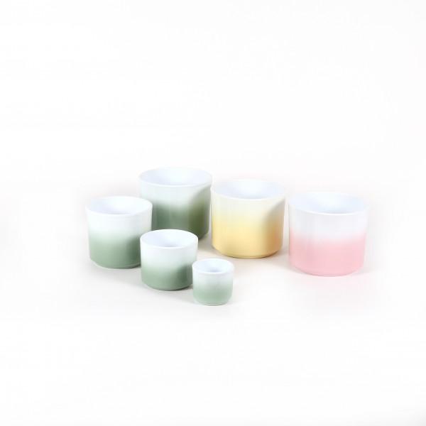 Zylinder Keramik-Topf Bicolor