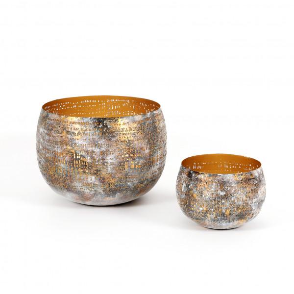Windlicht Kirra Metall, antik-gold