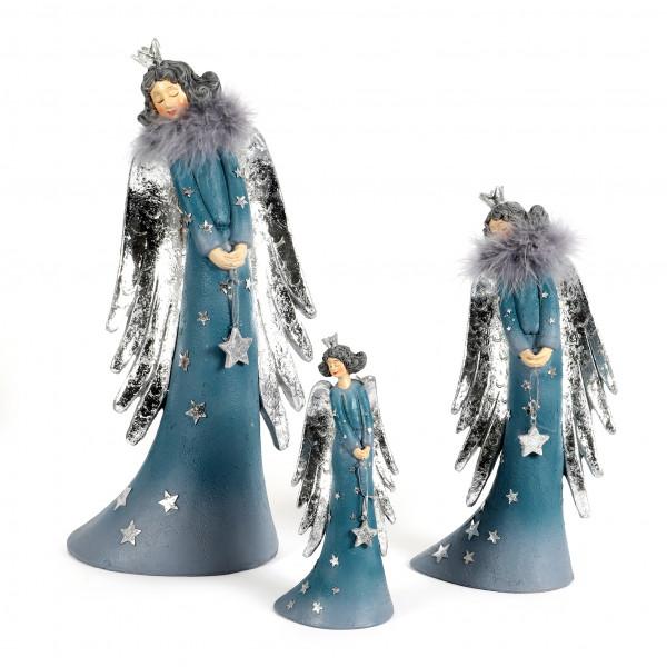 Poly-Engel Angelina stehend, elegant mit Schwung