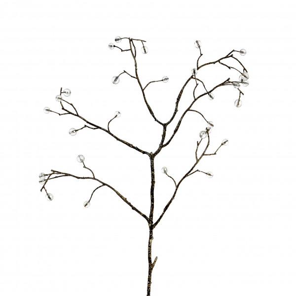 Schmuck-Zweig mit Perlen,klein klar, 54 cm