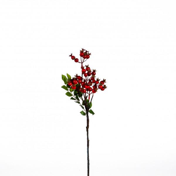 Hagebuttenzweig, 45 cm, rot