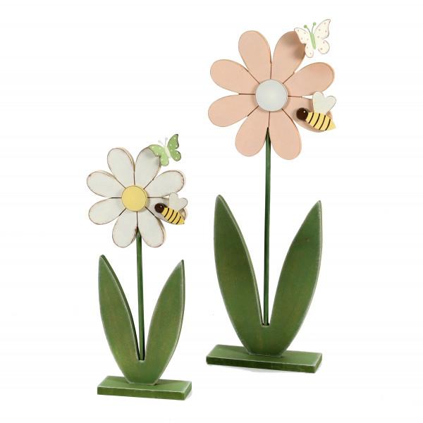 Standdeko Blume Holz, 36x15