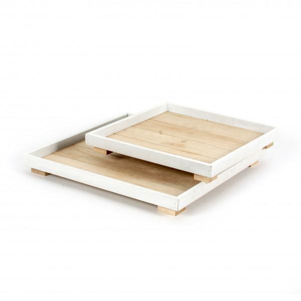 Holz-Tablett quadratisch
