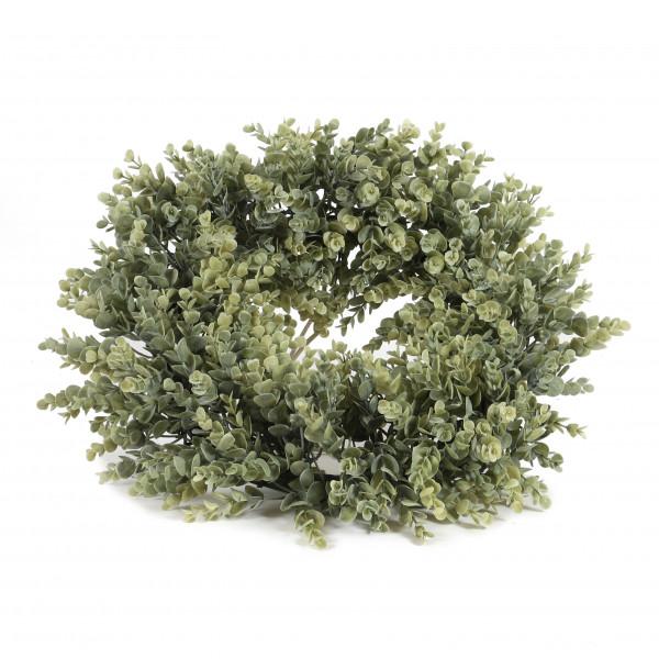 Eucalyptus-Kranz, 46 cm, grün-betaut
