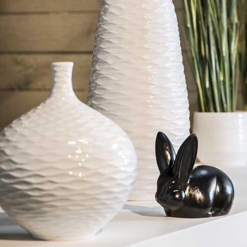 Keramik Deko-Vase, Mailand, bauchig m.Struktur