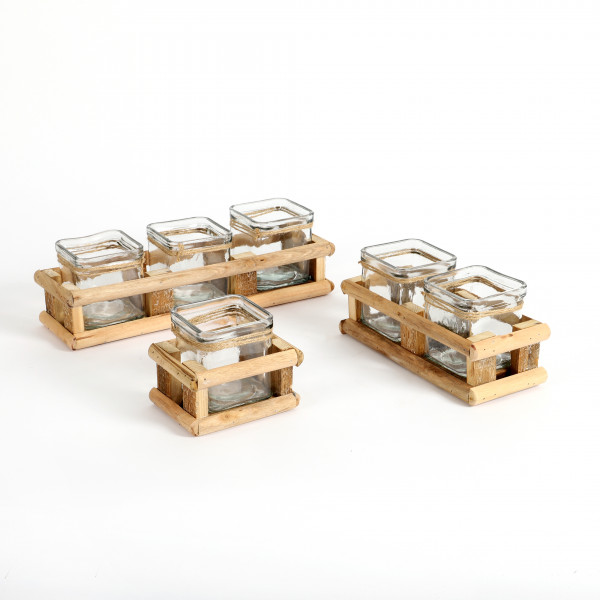 Holz-Tray offen für