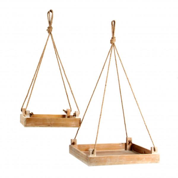 Holzhängetablett,S/2, 40x40x8, 5/30x30x8,5,natur