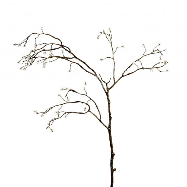 Schmuck-Zweig mit Perlen, klar 93 cm