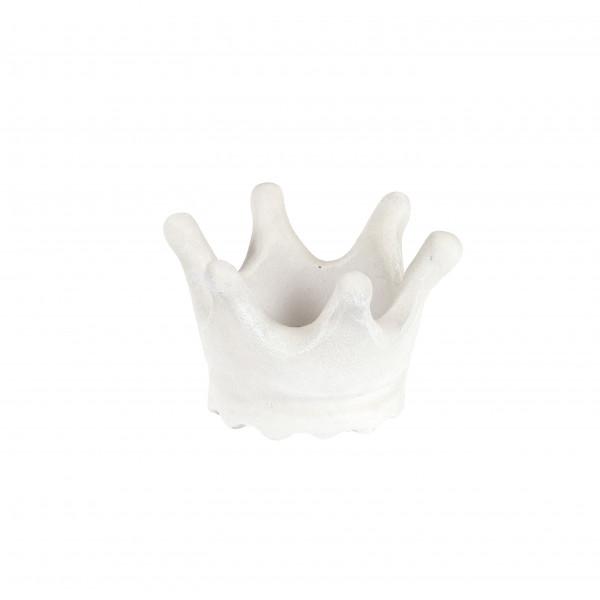Terrac.-Teelicht-Krone,17xH.11 cm,elfenbein