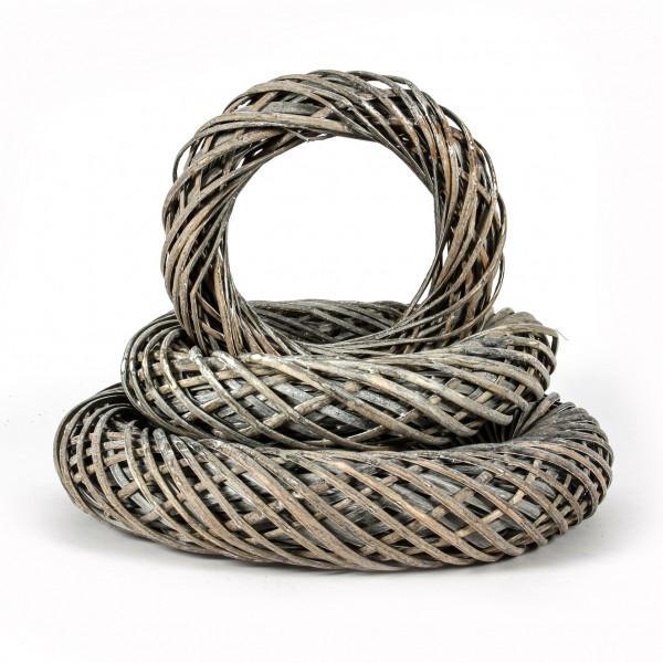 Weiden-Ring, New Style 50 cm grau-antik