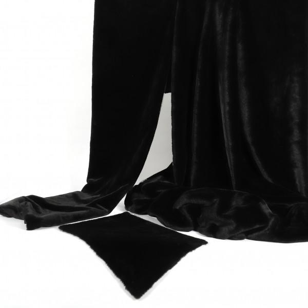 Dekostoff Fell schwarz