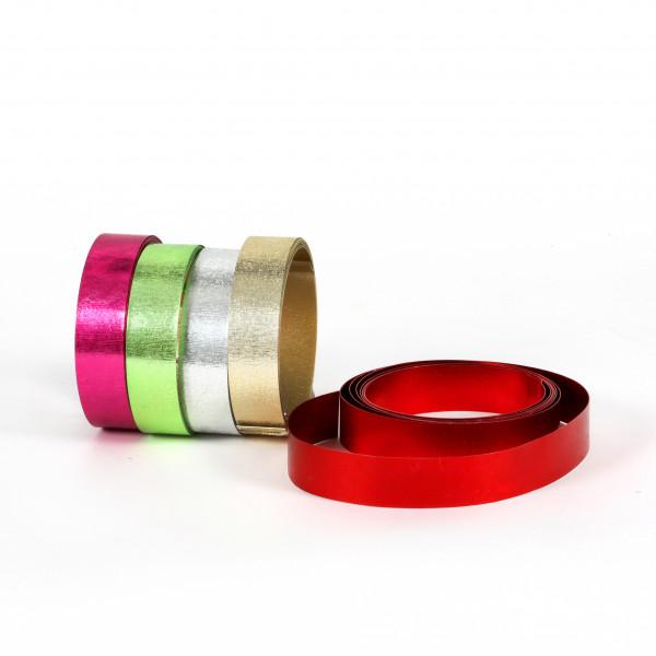 Alu-Flachdraht geprägt 30mm 3 m Rolle pink