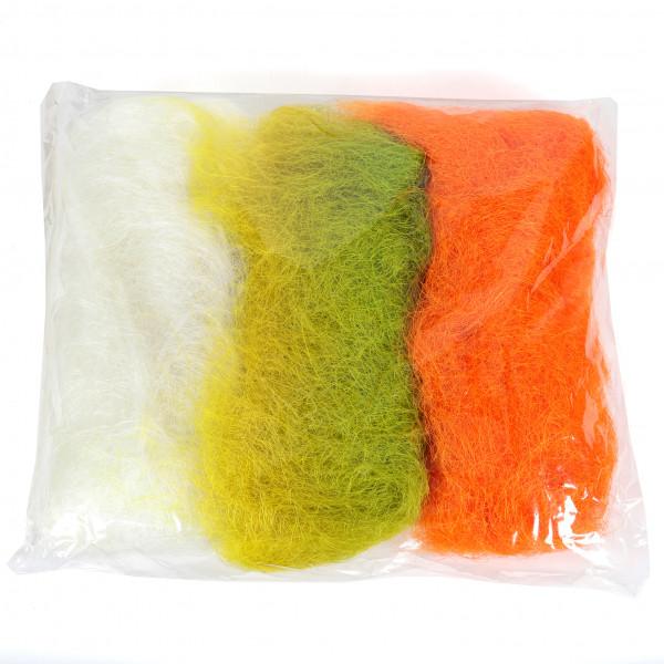Sisal Kombination 153weiß 117 apfelgrün 6 orange